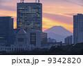 風景 富士山 街並の写真 9342820