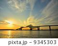 東京ゲートブリッジと夕暮れの雲 9345303