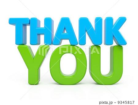 thank you word over whiteのイラスト素材 9345817 pixta