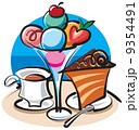 お皿 一切れ いちごのイラスト 9354491