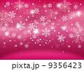 雪の結晶の背景(赤) 9356423