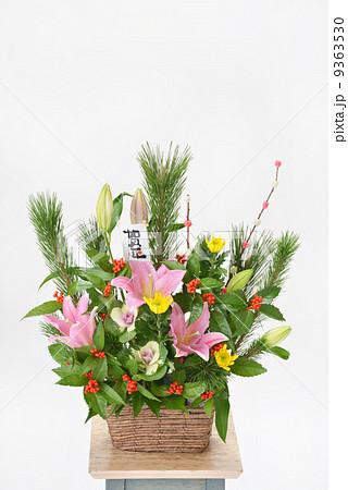 花 正月 フラワーアレンジメント 生け花の写真素材 - PIXTA