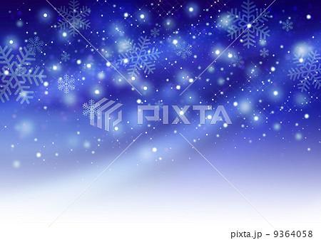 星空と雪の競演(ブルー) 9364058