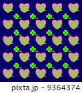 四葉のクローバー パターン ハートのイラスト 9364374