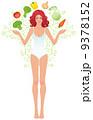 美しい ビューティー 美人のイラスト 9378152