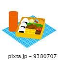お弁当と水筒 9380707