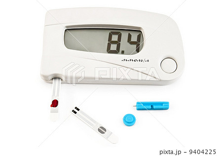 Glucometer white with stripes and needleの写真素材 [9404225] - PIXTA
