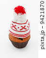 winter cap on muffin 9421870