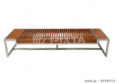 Modern wood long chair concept modern design on white backgroundの写真素材 [9448414] - PIXTA