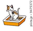 排泄 猫用トイレ 排便のイラスト 9475372