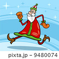 santa claus christmas cartoon illustration 9480074