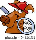ラケット スポーツ マンガのイラスト 9480131