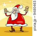 santa claus christmas cartoon illustration 9480463