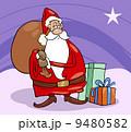 santa claus christmas cartoon illustration 9480582
