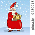 santa claus christmas cartoon illustration 9480916