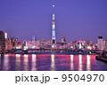 東京スカイツリーと清洲橋のライトアップ 9504970
