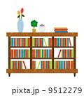本棚 インテリア 棚のイラスト 9512279