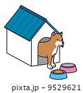 犬と犬小屋  9529621