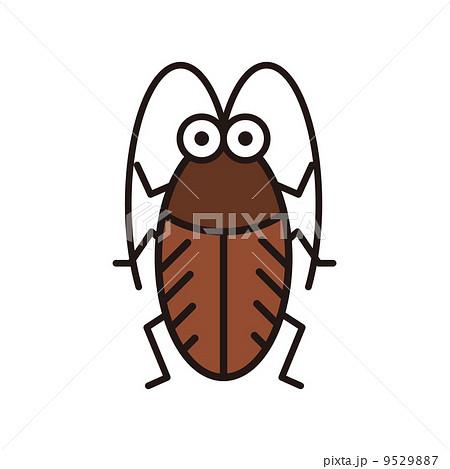 ゴキブリのイラスト素材 9529887 Pixta