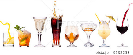 different images of alcohol isolatedの写真素材 [9532253] - PIXTA