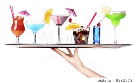 tray full of alcohol. celebration conceptの写真素材 [9532578] - PIXTA