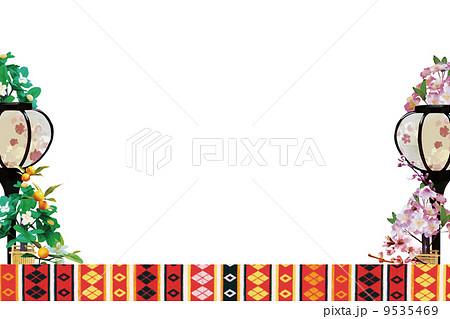 ひな祭りのイメージ枠のイラスト素材 9535469 Pixta
