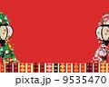 ひな祭りのイメージ枠 9535470