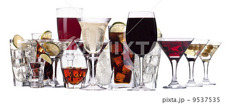 different images of alcohol isolatedの写真素材 [9537535] - PIXTA