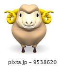 Front View Of Smile Brown Sheep 9538620