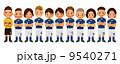 サッカー選手 ベクター サッカーのイラスト 9540271