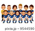サッカー選手 ベクター サッカーのイラスト 9544590