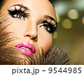 Beautiful woman with bright professional make-up 9544985