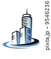 都市 そびえる タワーのイラスト 9546236