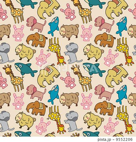 動物 壁紙 シームレスのイラスト素材 9552206 Pixta