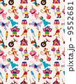 ピエロ 道化師 ラッパのイラスト 9552681