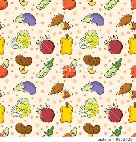 壁紙 野菜 キュートのイラスト素材 [9552729] - PIXTA