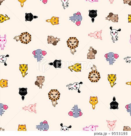 動物 動物園 壁紙のイラスト素材 9553193 Pixta