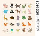 動物園 動物 セットのイラスト 9554605