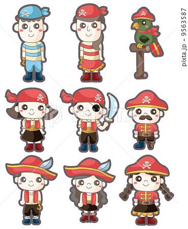 落書き 海賊 マンガのイラスト素材 9563587 Pixta