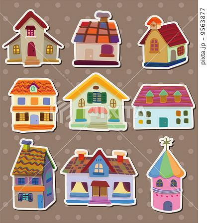家 かわいい コテージのイラスト素材 9563877 Pixta