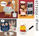 動物 ペット 愛玩動物のイラスト 9564119