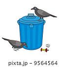 ゴミ箱とカラス 9564564