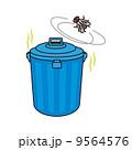ゴミ箱とハエと臭い 9564576