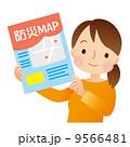 防災マップ 防災 女性のイラスト 9566481