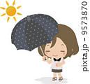 紫外線 日射し 日傘のイラスト 9573870