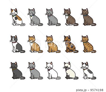 猫の柄セット 9574198