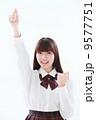ガッツポーズ 女性 笑顔の写真 9577751