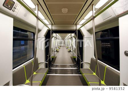 metrovalencia subway car interior view 9581352 pixta. Black Bedroom Furniture Sets. Home Design Ideas