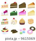 カットケーキ ベクター スイーツのイラスト 9615069