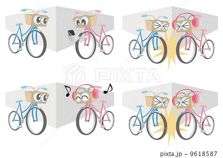 自転車の 自転車の事故 : ... 素材: 自転車の事故のイラスト